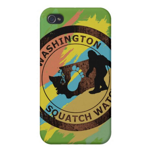Reloj de Washington Squatch iPhone 4 Fundas