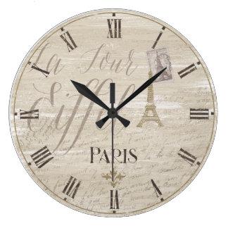 Reloj decorativo de París de la torre Eiffel