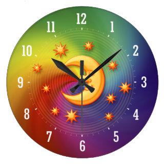 Reloj decorativo de sueño feliz de la luna