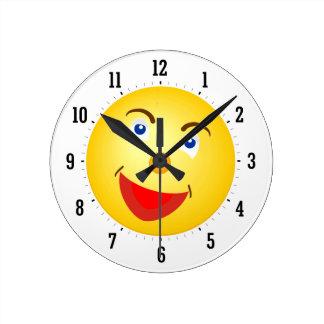 Reloj decorativo del sol de la sonrisa