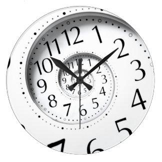 Reloj decorativo del tiempo del infinito abstracto