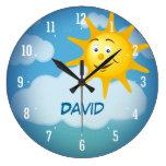 Reloj decorativo sonriente de Sun el  