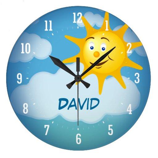 Reloj decorativo sonriente de Sun el |