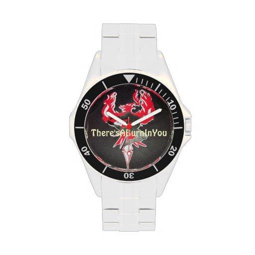 Reloj del acero inoxidable
