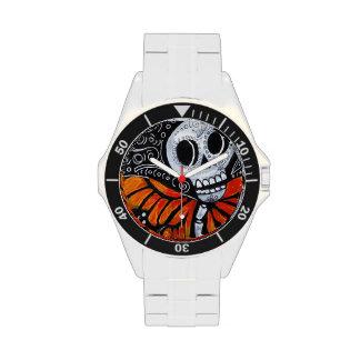 Reloj del acero inoxidable de Dia de los Muertos 3