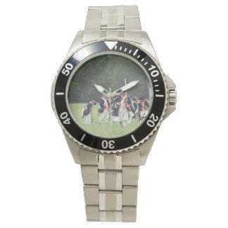 Reloj del acero inoxidable de la revolución