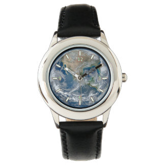 Reloj del acero inoxidable del niño de la tierra