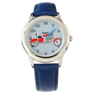 Reloj del adorno de la moto de los muchachos