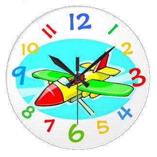 Reloj del aeroplano del juguete con números colori