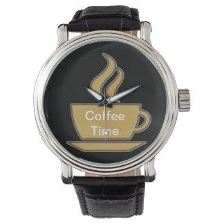 Reloj del amante del café