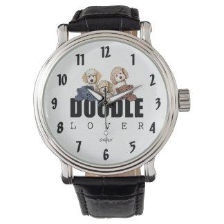Reloj del amante del Doodle