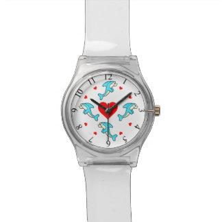 Reloj del amor del delfín