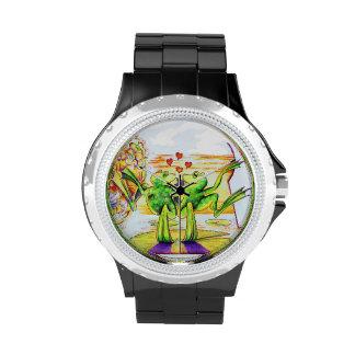 Reloj del amor del Froggy