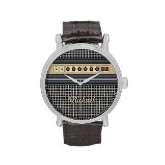 Reloj del amplificador de sonidos de la guitarra d