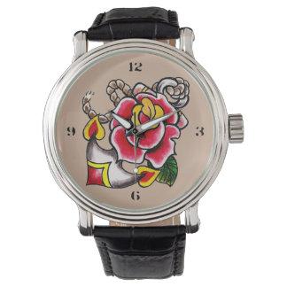 Reloj del Ancla-n-Rosa