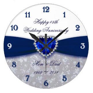 Reloj del aniversario de boda del damasco 45.o