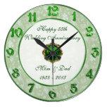 Reloj del aniversario de boda del damasco 55.o
