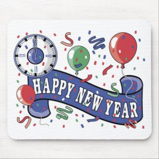 Reloj del Año Nuevo Alfombrillas De Ratón