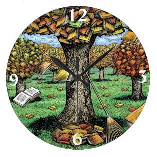 Reloj del árbol del libro
