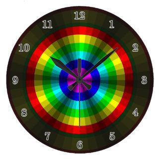 Reloj del arco iris de la ilusión óptica