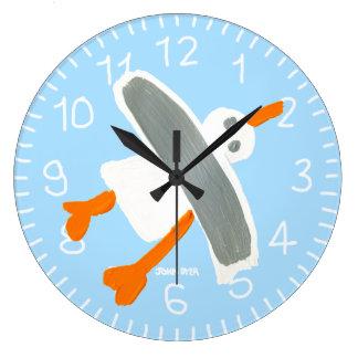 Reloj del arte: Azul de la gaviota el tintóreo de
