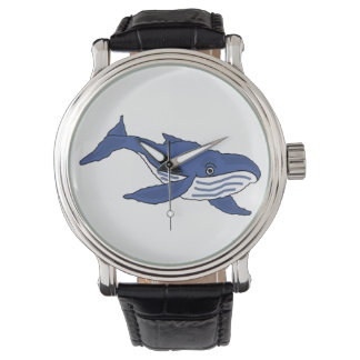 Reloj del arte de la ballena azul