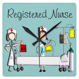 """Reloj del arte de la enfermera """"el cuarto de hospi"""