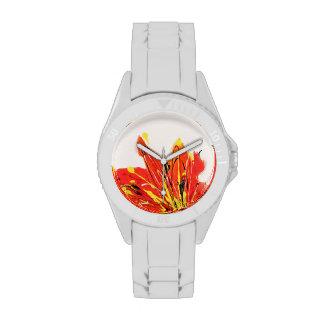 Reloj del arte de la hoja del otoño
