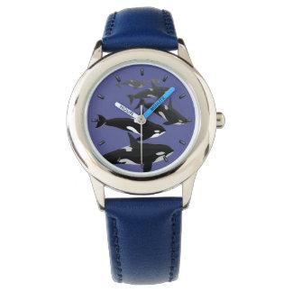 Reloj del arte de la orca del reloj de la ballena