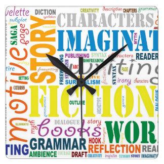 Reloj del arte de la palabra del escritor blanco d