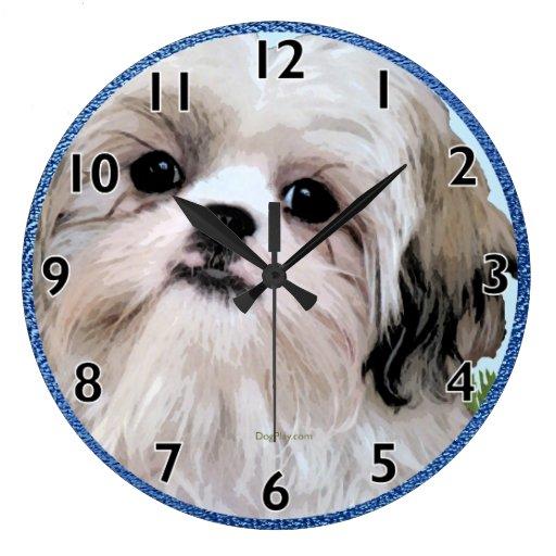 Reloj del arte de Shih Tzu