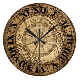 Reloj del arte del compás del vintage