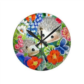 Reloj del arte del erizo de la primavera