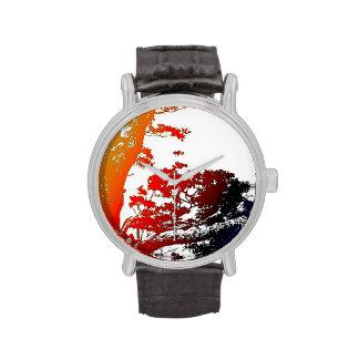 Reloj del arte pop del roble