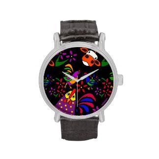 Reloj del arte popular del animal del campo divert