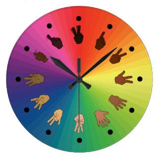 Reloj del ASL de la rueda de color (segmentos minu