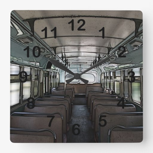 reloj del autobús del vintage