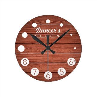 Reloj del bailarín con los números para bailarines