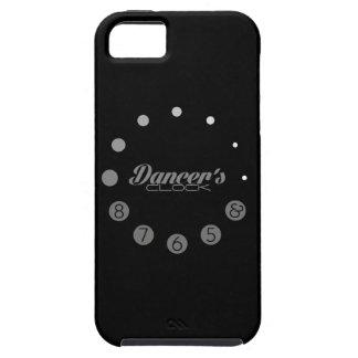Reloj del bailarín con los números para bailarines iPhone 5 carcasa
