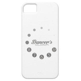 Reloj del bailarín con los números para bailarines iPhone 5 fundas
