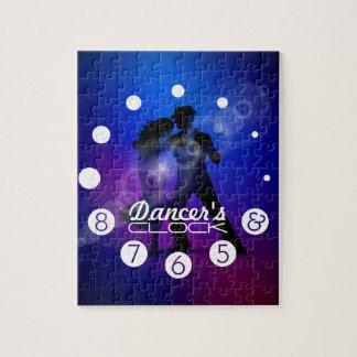 Reloj del bailarín con los números para bailarines rompecabezas
