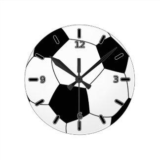 Reloj del balón de fútbol (con números)