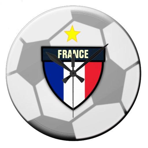 Reloj del balón de fútbol de Francia