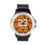 Reloj del baloncesto con número y nombre de encarg