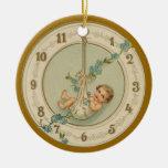 Reloj del bebé de los Años Nuevos del vintage Adornos De Navidad