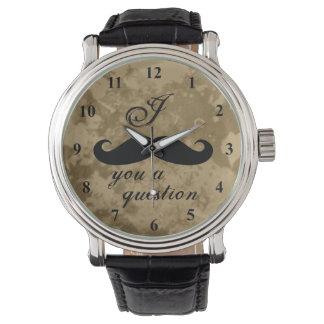 Reloj del bigote del vintage para los hombres