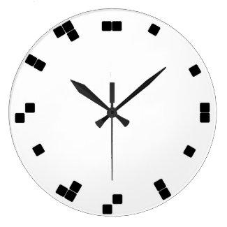 Reloj del binario de la pared