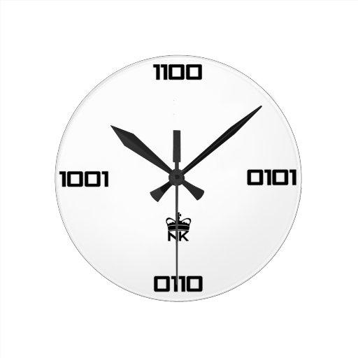 Reloj del binario de NerdKings
