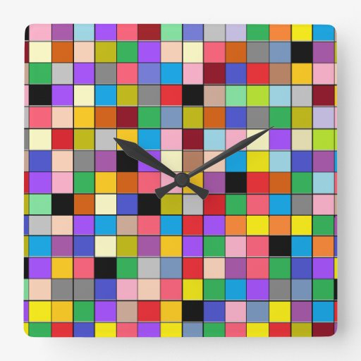 """""""Reloj del bloque del color"""" Reloj Cuadrado"""