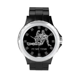 Reloj del Bodybuilder del tiempo de la bomba